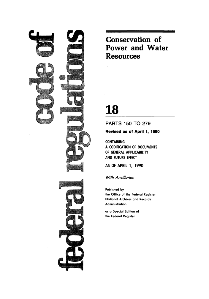 handle is hein.cfr/cfr1990057 and id is 1 raw text is: Conservation of