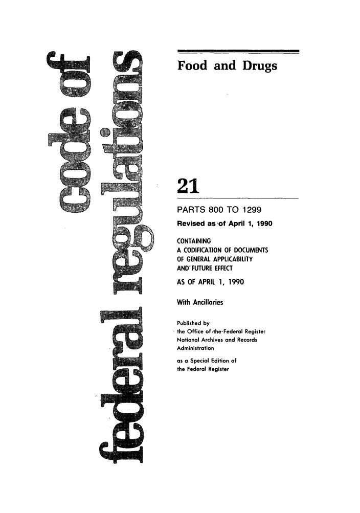 handle is hein.cfr/cfr1990073 and id is 1 raw text is: Food and Drugs