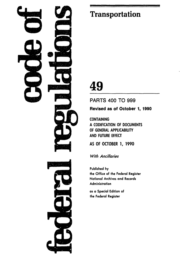 handle is hein.cfr/cfr1990194 and id is 1 raw text is: Transportation