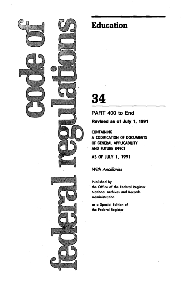 handle is hein.cfr/cfr1991129 and id is 1 raw text is: Education