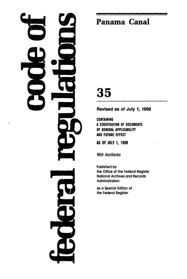 handle is hein.cfr/cfr1998125 and id is 1 raw text is: Panama Canal