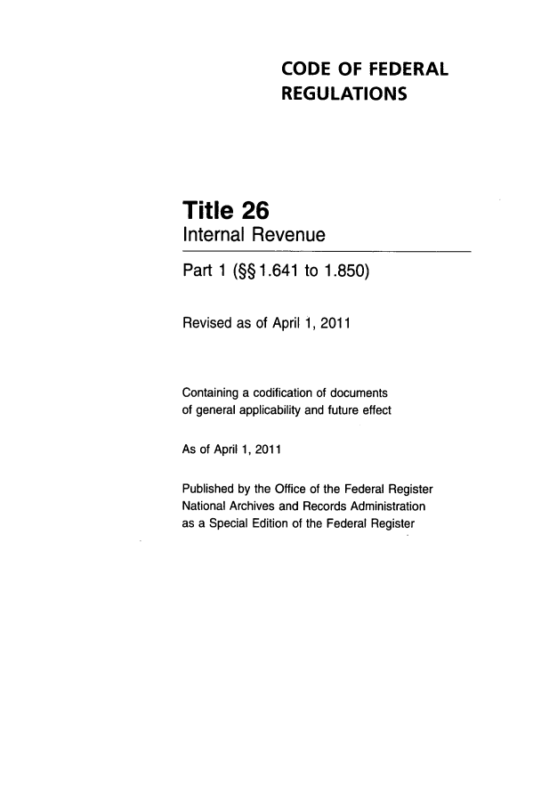 handle is hein.cfr/cfr2011087 and id is 1 raw text is: CODE OF FEDERAL