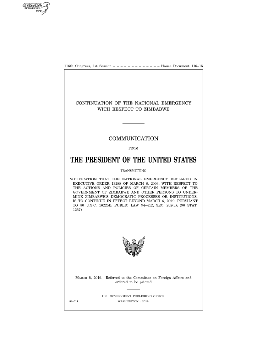 handle is hein.congrecdocs/crptdocsxaaga0001 and id is 1 raw text is: 