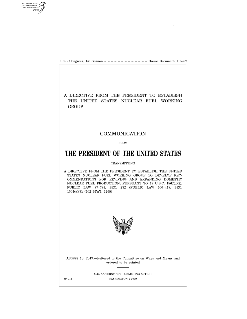 handle is hein.congrecdocs/crptdocsxaaib0001 and id is 1 raw text is: AUTHENTICATEO