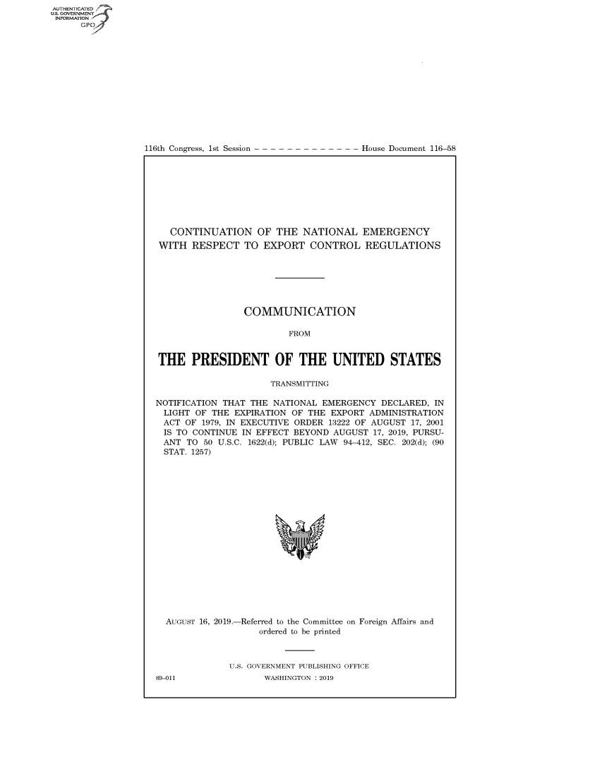 handle is hein.congrecdocs/crptdocsxaaic0001 and id is 1 raw text is: 