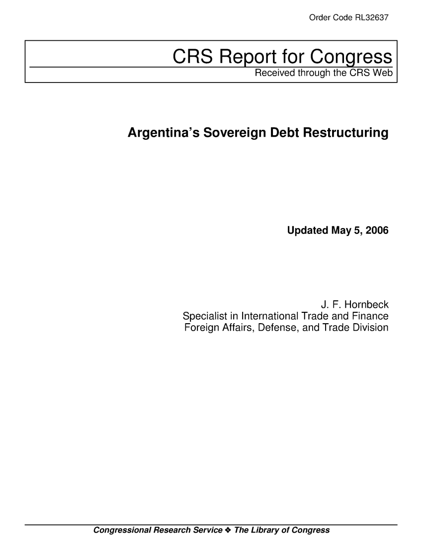 handle is hein.crs/crsadzd0001 and id is 1 raw text is: Order Code RL32637