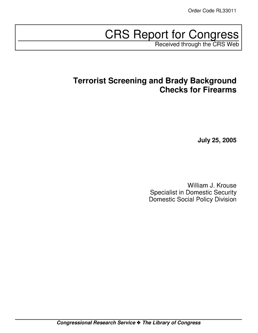 handle is hein.crs/crsmthaaeng0001 and id is 1 raw text is: Order Code RL33011