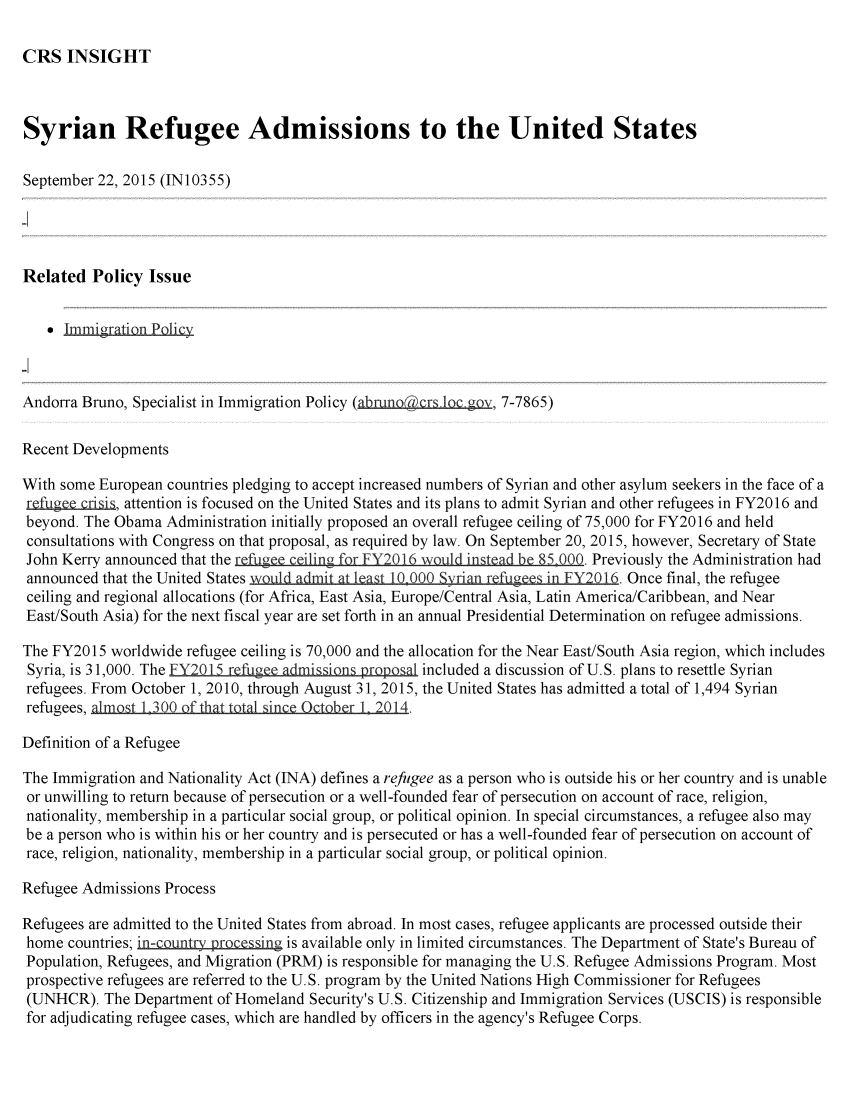 handle is hein.crs/crsmthaafmq0001 and id is 1 raw text is: CRS INSIGHT