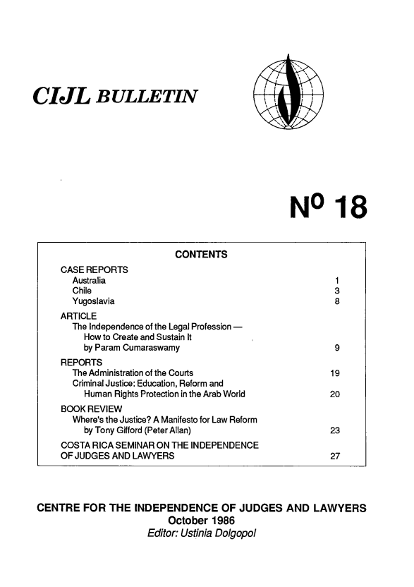 handle is hein.icj/cijlbul0018 and id is 1 raw text is: CIJL BULLETIN