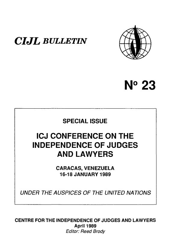 handle is hein.icj/cijlbul0023 and id is 1 raw text is: CIJL BULLETIN