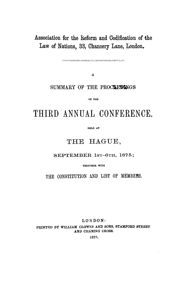 handle is hein.ilarc/ilarc1875 and id is 1 raw text is: Assooiation for the Reform and Codification of the