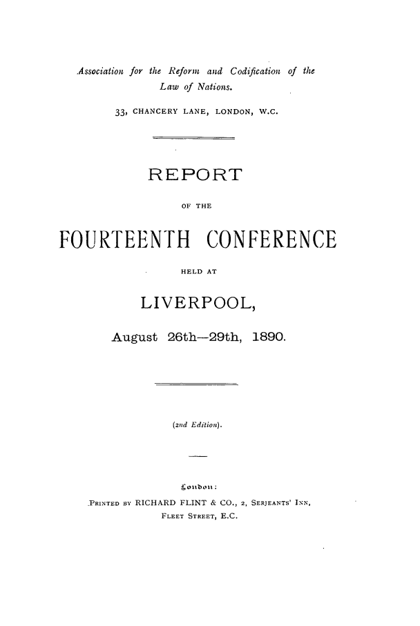 handle is hein.ilarc/ilarc1890 and id is 1 raw text is: Association for the Reform and Codification of the