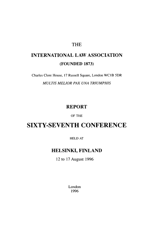 handle is hein.ilarc/ilarc1996 and id is 1 raw text is: THE