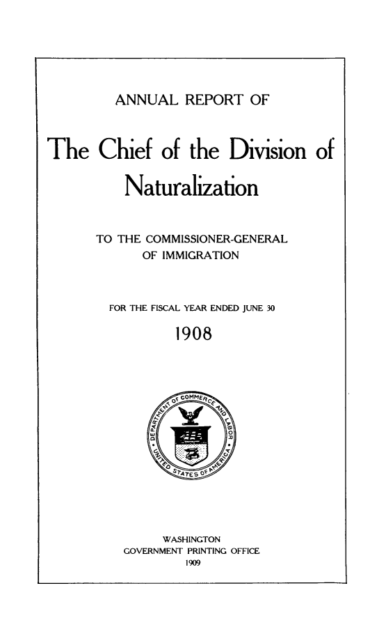 handle is hein.immigration/arisalisl0002 and id is 1 raw text is: ANNUAL REPORT OF