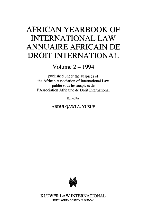 handle is hein.intyb/afrcnyb0002 and id is 1 raw text is: AFRICAN YEARBOOK OF