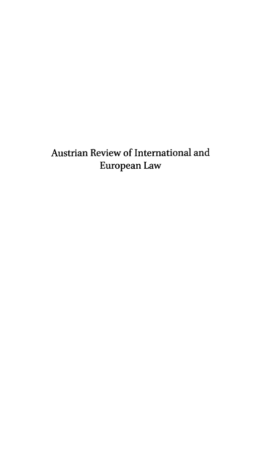 handle is hein.intyb/aurviel0014 and id is 1 raw text is: Austrian Review of International and