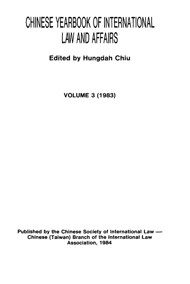 handle is hein.intyb/chiyraff0003 and id is 1 raw text is: CHINESE YEARBOOK OF INTERNATIONAL