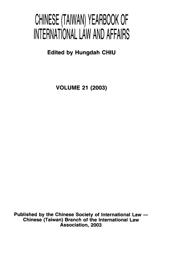 handle is hein.intyb/chiyraff0021 and id is 1 raw text is: CHINESE (TAIWAN) YEARBOOK OF