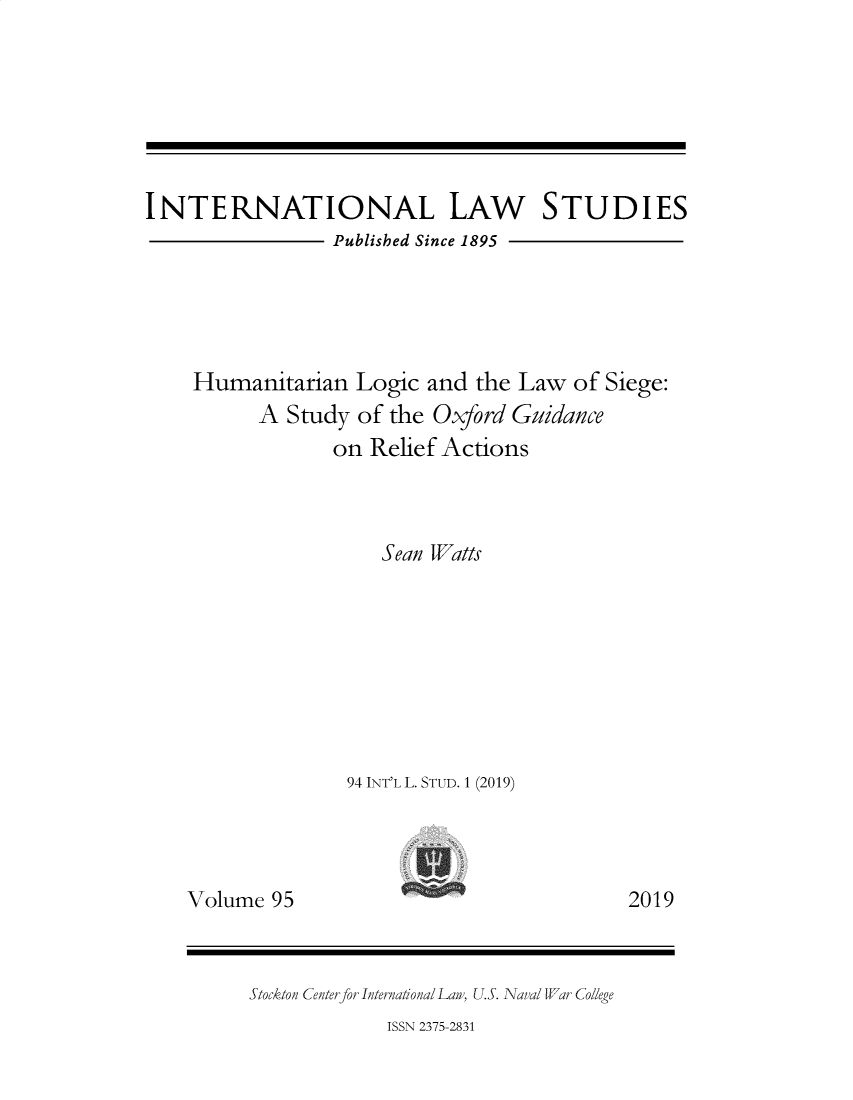handle is hein.intyb/ilsusnwc0095 and id is 1 raw text is: 