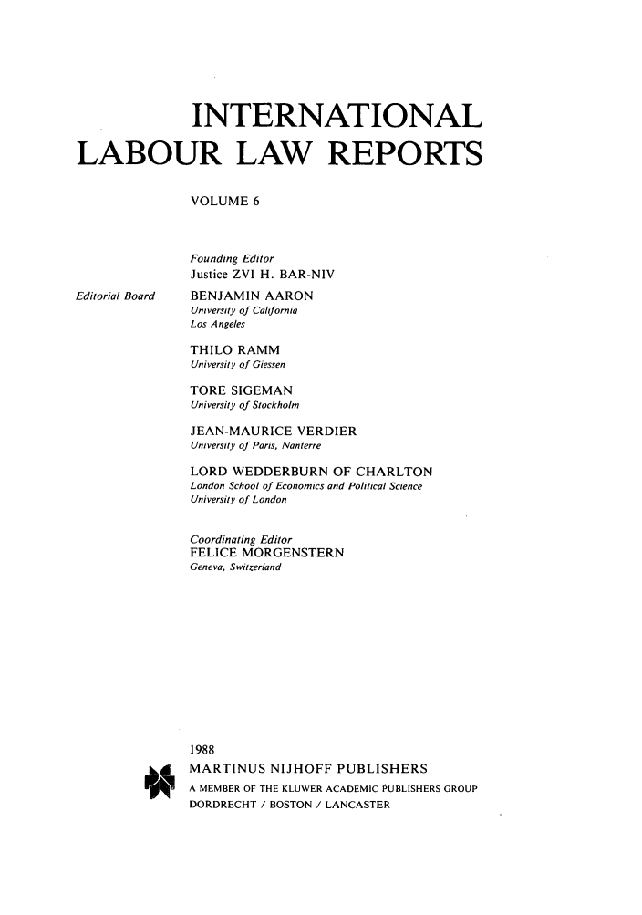 handle is hein.intyb/inllrep0006 and id is 1 raw text is: INTERNATIONAL