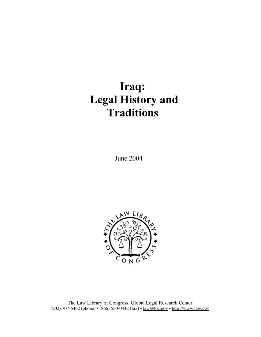 Iraq: Legal History and Traditions V  1