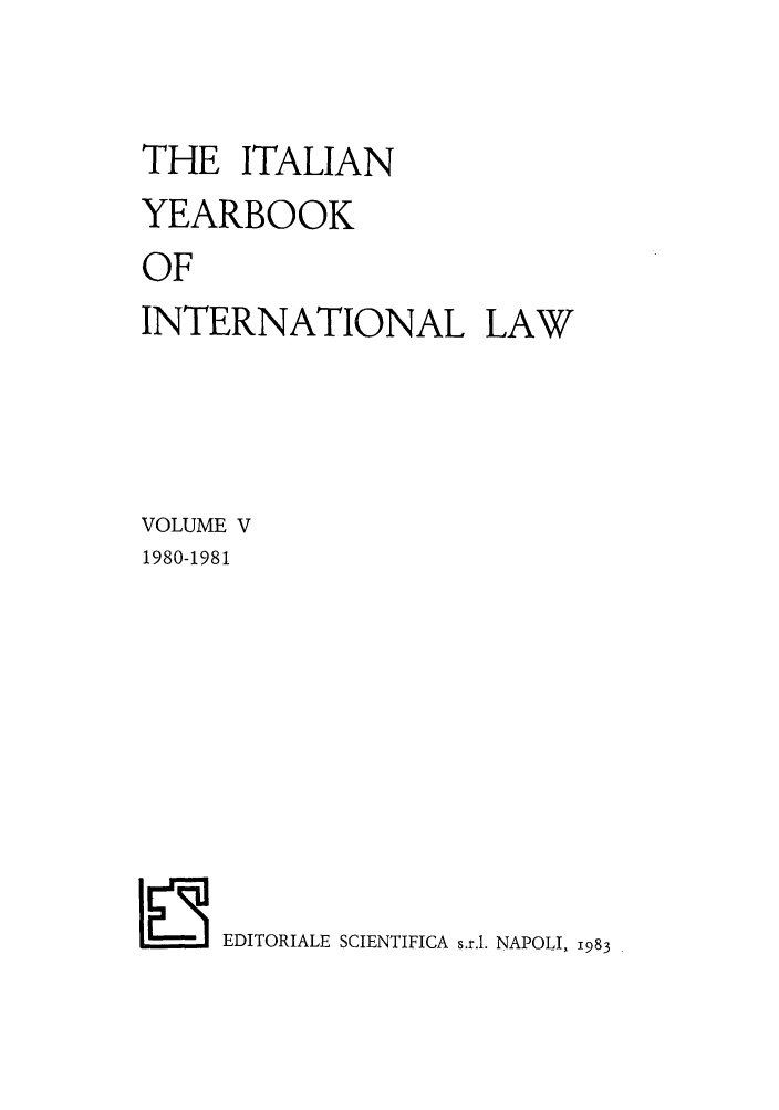 handle is hein.intyb/iyrbk0005 and id is 1 raw text is: THE ITALIAN