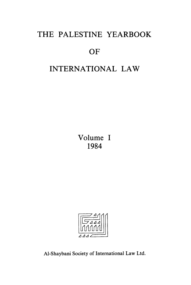 handle is hein.intyb/palesyb0001 and id is 1 raw text is: THE PALESTINE YEARBOOK