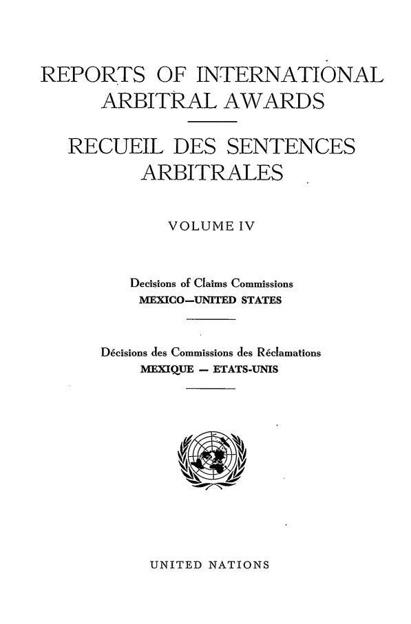 handle is hein.intyb/riaa0004 and id is 1 raw text is: REPORTS OF INTERNATIONAL