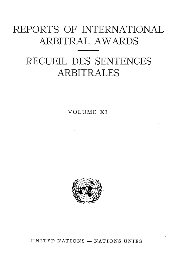handle is hein.intyb/riaa0011 and id is 1 raw text is: REPORTS OF INTERNATIONAL