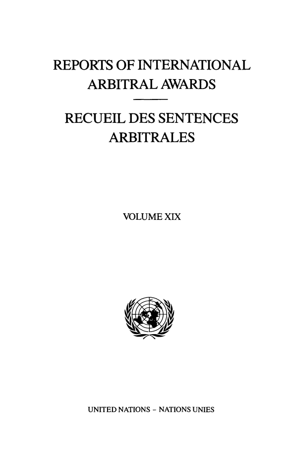 handle is hein.intyb/riaa0019 and id is 1 raw text is: REPORTS OF INTERNATIONAL