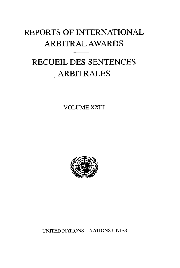 handle is hein.intyb/riaa0023 and id is 1 raw text is: REPORTS OF INTERNATIONAL