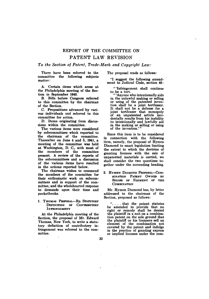1941 ABA Section of Patent Trademark and Copyright Law. Committee ...