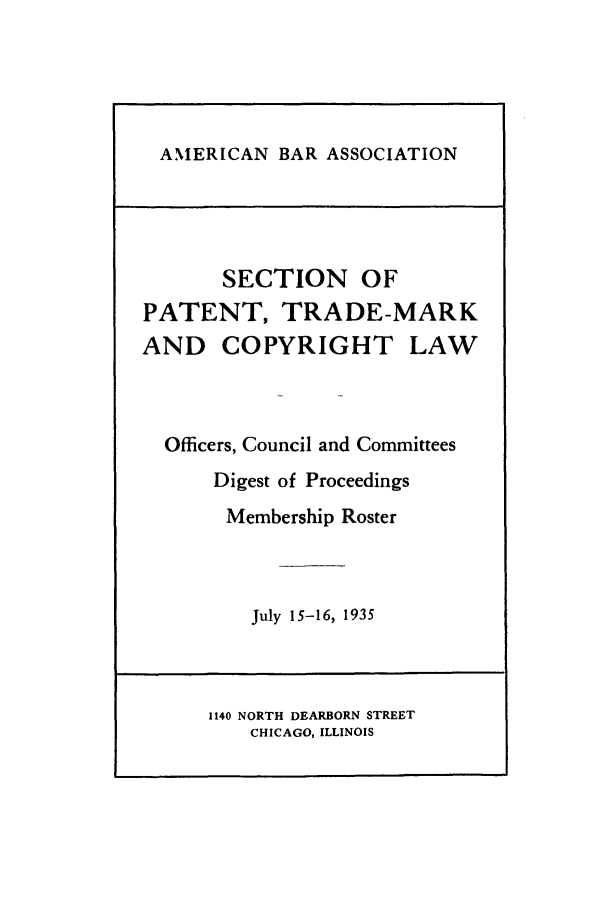 handle is hein.journals/abasptcpro1935 and id is 1 raw text is: AMERICAN BAR ASSOCIATION