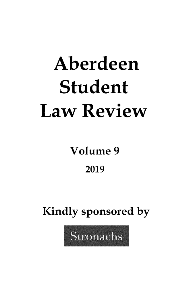handle is hein.journals/aberde9 and id is 1 raw text is: 