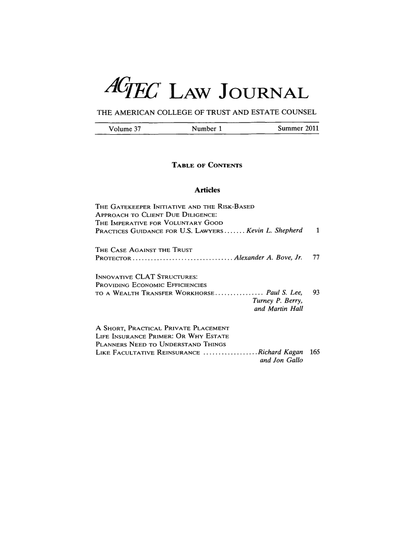 handle is hein.journals/acteclj37 and id is 1 raw text is: ACjyy. LAw JOURNAL