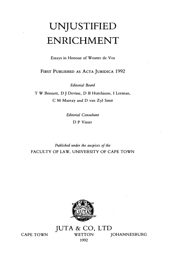 handle is hein.journals/actj1992 and id is 1 raw text is: UNJUSTIFIED