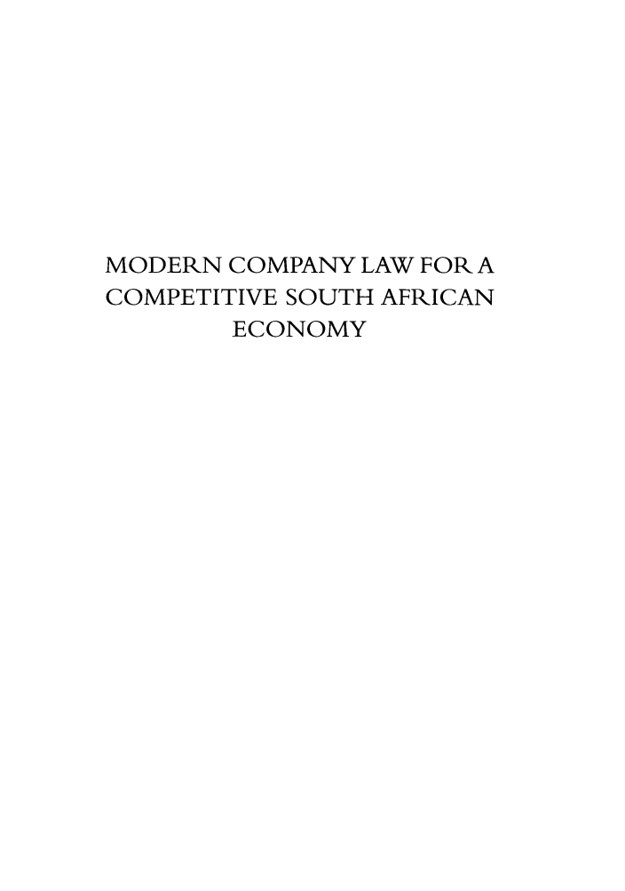 handle is hein.journals/actj2010 and id is 1 raw text is: MODERN COMPANY LAW FOR A