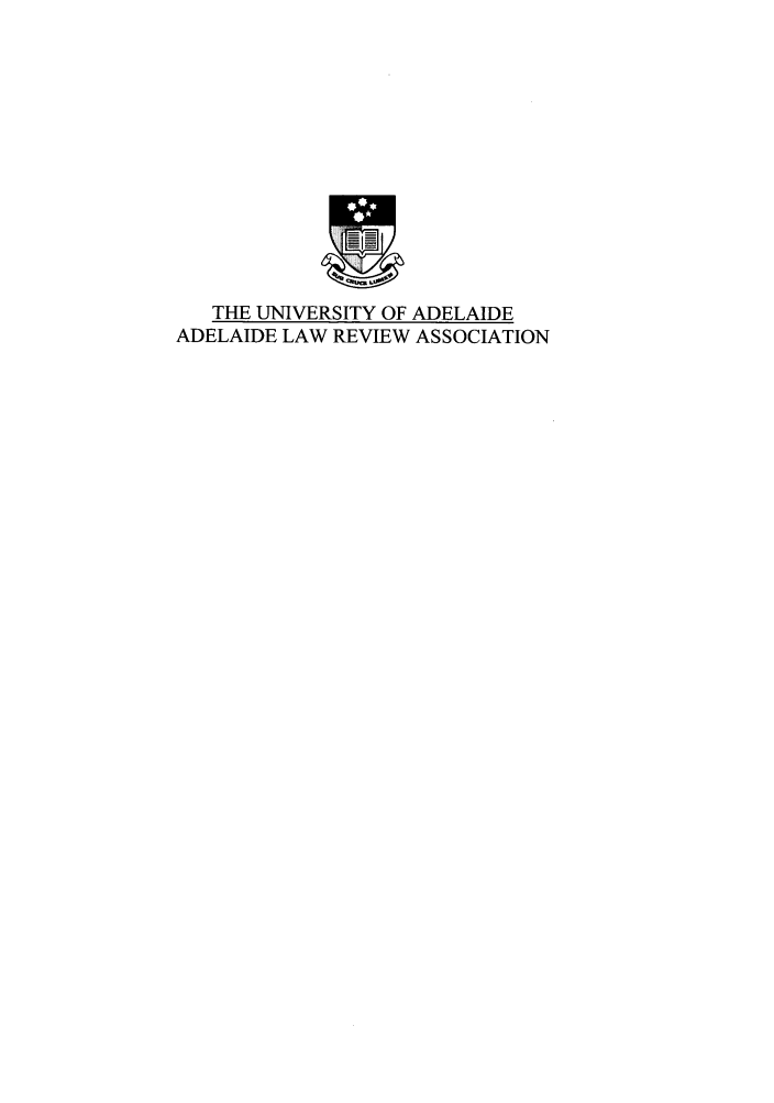 handle is hein.journals/adelrev29 and id is 1 raw text is: THE UNIVERSITY OF ADELAIDE