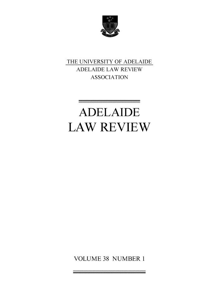 handle is hein.journals/adelrev38 and id is 1 raw text is: 