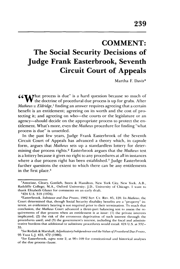 handle is hein.journals/admin40 and id is 259 raw text is: 239