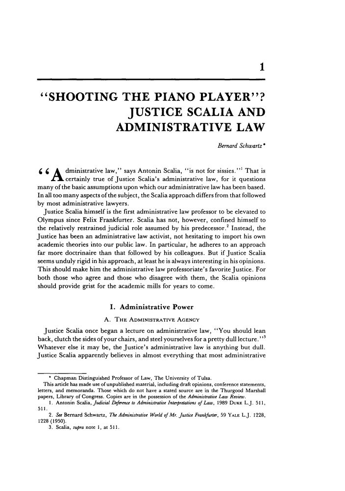 handle is hein.journals/admin47 and id is 11 raw text is: SHOOTING THE PIANO PLAYER?