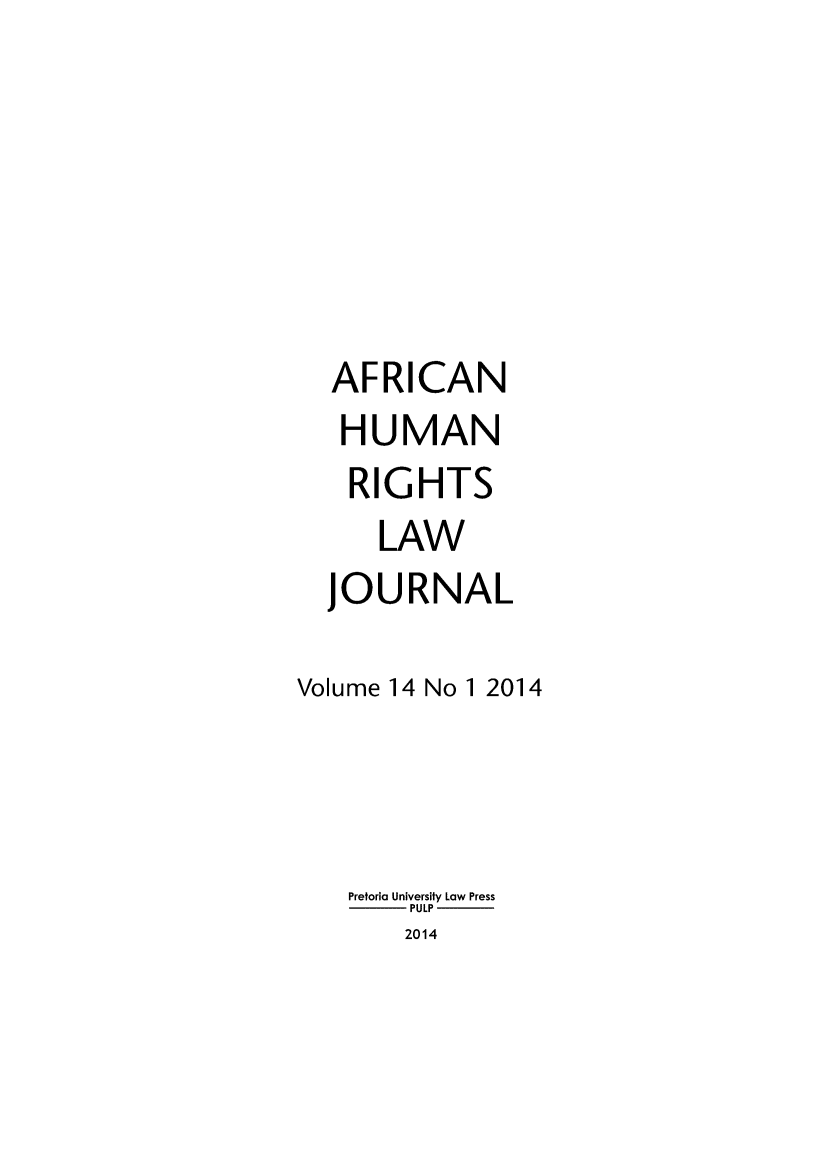 handle is hein.journals/afrhurlj14 and id is 1 raw text is: 