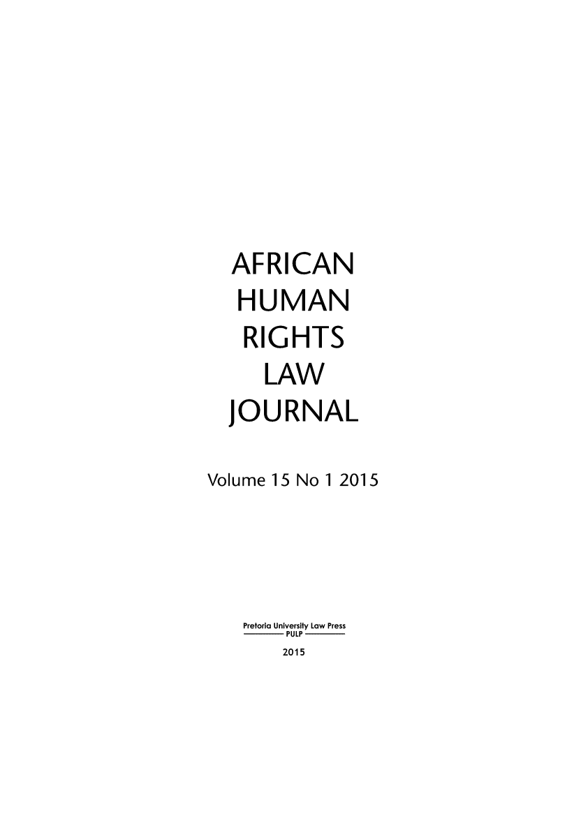handle is hein.journals/afrhurlj15 and id is 1 raw text is: 