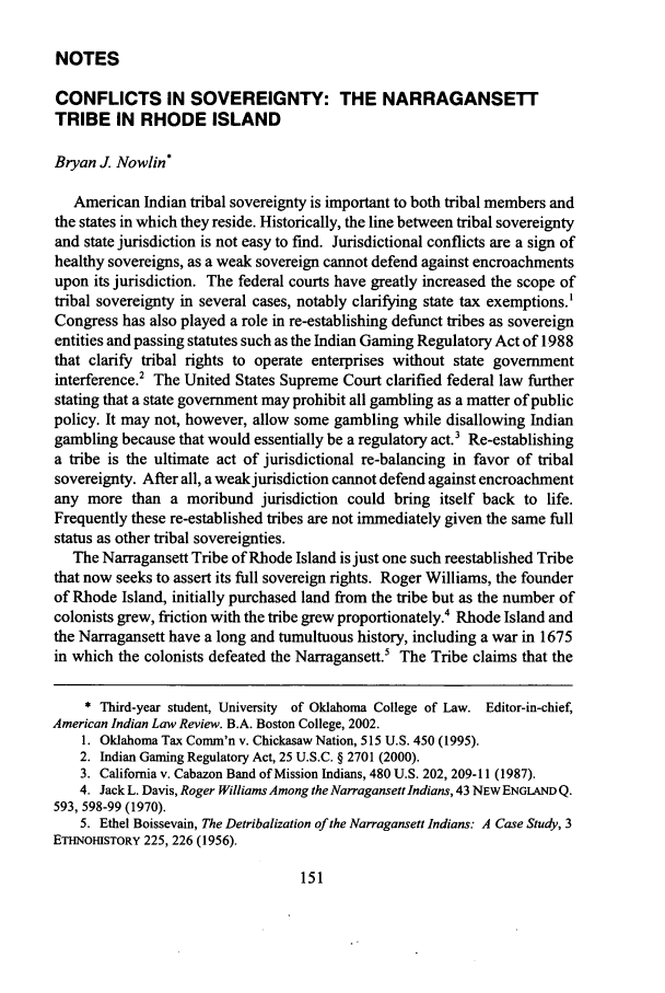 handle is hein.journals/aind30 and id is 161 raw text is: NOTES
