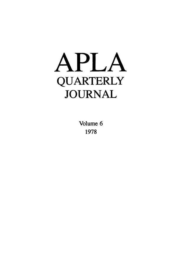 handle is hein.journals/aiplaqj6 and id is 1 raw text is: APLA