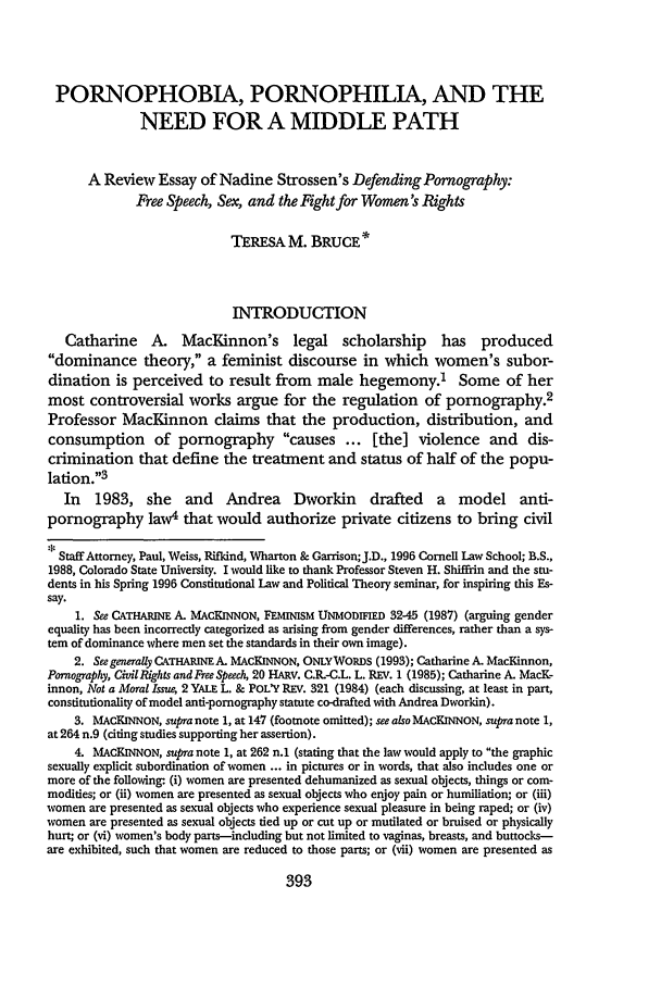 handle is hein.journals/ajgsp5 and id is 399 raw text is: PORNOPHOBIA, PORNOPHILIA, AND THE