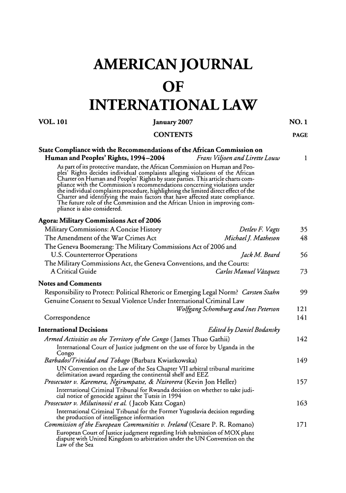 handle is hein.journals/ajil101 and id is 1 raw text is: AMERICAN JOURNAL