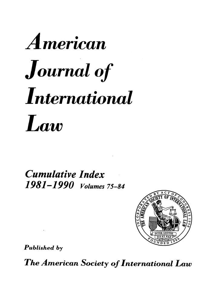 handle is hein.journals/ajil7584 and id is 1 raw text is: American