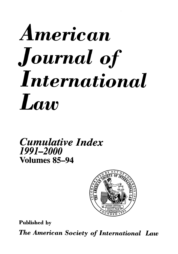 handle is hein.journals/ajil8594 and id is 1 raw text is: American