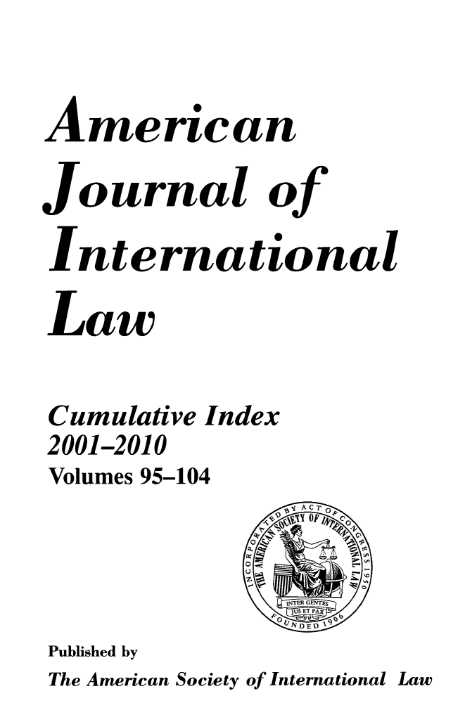 handle is hein.journals/ajil9999 and id is 1 raw text is: American